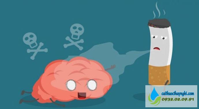 hút thuốc lá gây nghiện não bộ