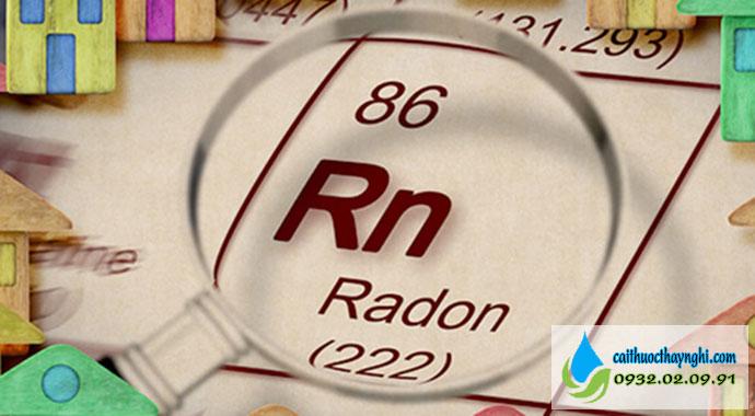 khí radon gây ưng phổi